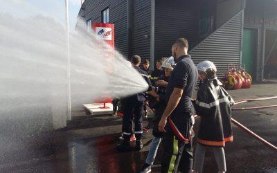 Activité incendie au centre de Bais par les cadet-te-s de classe de 3ème.